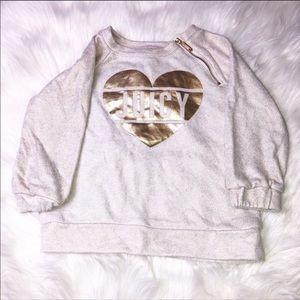Juicy Couture Metallic Heart Sweater